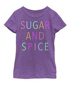 Look what I found on #zulily! Purple 'Sugar And Spice' Tee - Girls #zulilyfinds