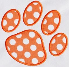 230 Paw Print Machine Embroidery Applique Design