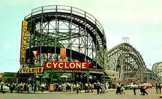 The Cyclone, Coney Island, Brooklyn, NYC. One of the worlds oldest wooden built coasters and a mini-obsession of mine.