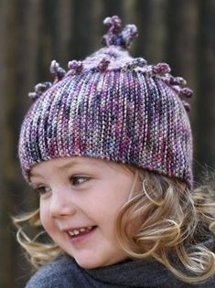 Knitting Pattern for Chesser Hat - 7 sizes from adult to baby. Chesser is a playful Hat featuring a sideways knit brim+body and a vertically knit crown. Designed by Woolly Wormhead