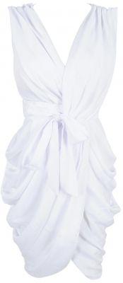 'Monroe' White Chiffon Wrap Dress