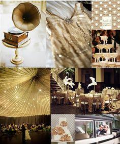 Golden Great Gatsby #inspiration board