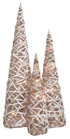 1a140f1681326 Enchanted Forest® Frosted Rattan Cone Trees - 3 Count  18 FOR 3
