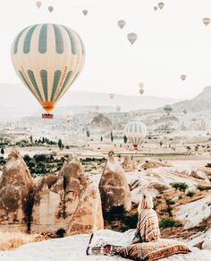 Keeping cosy while watching the morning sky fill with balloons✨Kappadokia Turkey Oh The Places You'll Go, Places To Travel, Travel Destinations, Places To Visit, Turkey Destinations, Adventure Awaits, Adventure Travel, Morning Sky, Jolie Photo