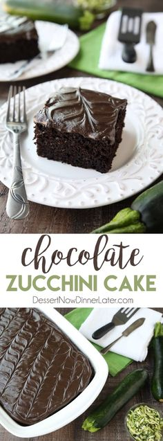 Chocolate Zucchini Cake is rich and moist, and topped with a decadent chocolate frosting You'd never know there was zucchini hidden in this easy and delicious chocolate cake! is part of Chocolate zucchini cake - Chocolate Zucchini Cookies, Healthy Chocolate Zucchini Bread, Best Moist Chocolate Cake, Decadent Chocolate, Delicious Chocolate, Chocolate Recipes, Chocolate Frosting, Chocolate Courgette Cake, Chocolate Deserts