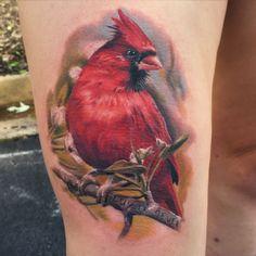 Cardinal tattoo done at Ink & Dagger