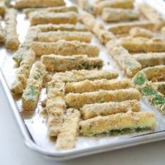 Baked zucchini fries - a fun and easy summer recipe to make with kids!