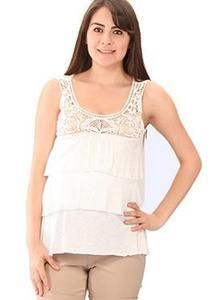 One Hottie Mama  - MATERNITY LACE AND LAYERED TOP, $37.90 (http://stores.onehottiemama.com/maternity-lace-and-layered-top/)