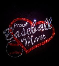 Custom Rhinestone Bling Proud Baseball Mom Shirt by BlingNInk on Etsy