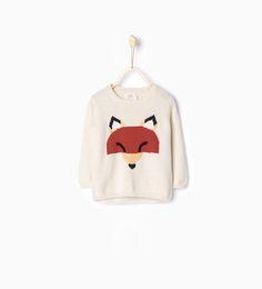 Fox knit sweater-Sweaters & Cardigans-Baby boy-Baby | 3 months - 3 years-KIDS | ZARA United States