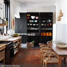 essbereich mit holztisch und schönem dielenboden. #parkett ... - Holzdielen In Der Küche