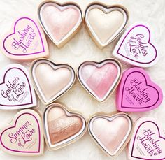 Heart Shaped Highlighter, Blush, and Bronzer