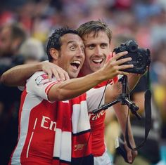 Selfie w Santi Cazorla !! #Arsenal #Soccer
