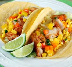 Cod fish tacos with corn and mango salsa (made these a couple times - the salsa is great!)