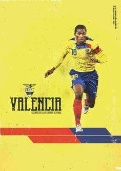 Antonio Valencia of Ecuador wallpaper.