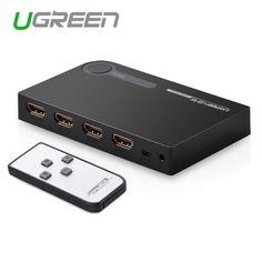 Ugreen hdmiスプリッタ3ポートhdmiスイッチスイッチャーのhdmiポート用xbox 360 ps3 ps4スマートアンドロイドhdtv 1080 p 3入力1出力4 k