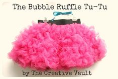 Bubble Ruffle Tutu. This skirt looks like it might be complicated and requires a lot of sewing skill but it doesn't. Even a beginner can do this. You technically don't even need to know how to sew a straight line. And because the bubble ruffles are so fluffy it easily will hide any mistakes you might make. Tutorial.
