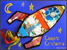 Cosmic Cruisers, Grade 3 *great for using up colored scrap paper, foam bits, etc.