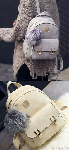 Cheap Fashion Frosted PU Zippered Backpack With Metal Lock Match School Bag Backpack For Big Sale!Fashion Frosted PU Zippered Backpack With Metal Lock Match School Bag Backpack Lace Backpack, Retro Backpack, Striped Backpack, Backpack For Teens, Backpack Bags, Cute Backpacks, Girl Backpacks, School Backpacks, Leather Backpacks