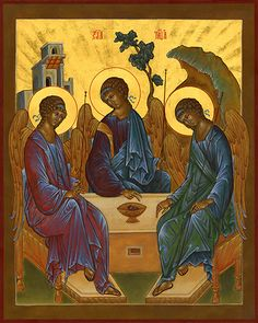Holy Trinity Icon by Diane Ingri Levy
