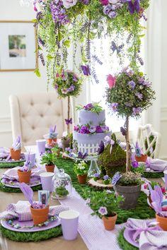 Butterfly Garden Party, Butterfly Birthday Party, Fairy Birthday Party, Birthday Party Tables, Garden Birthday, 7th Birthday, Kids Party Tables, Happy Birthday, Princess Birthday