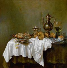Willem Claeszoon Heda - Heda ontbijt met krab.