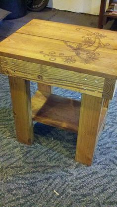 Woodburned table for sale $50 in Sacramento, call/text 916-599-0792 Pallet Furniture For Sale, Outdoor Furniture, Outdoor Decor, Homemade Tables, Sale 50, Woodburning, Sacramento, Home Decor, Decoration Home