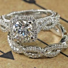 Diamond RingsWhat do you think of the colour? Diamond Rings 40 Seriously Swoon-some Engagement Rings YOU Secretly Want 45 Anillos de compromiso inspirados en Mod Wedding, Wedding Bands, Wedding Sets, Wedding Ring, Dream Wedding, Elegant Wedding, Bridal Sets, Wedding Night, Trendy Wedding