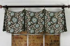Delaine Valance Sewing Pattern...a wonderful shaped Valance that uses very little fabric.