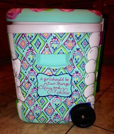 Lilly inspired Crown Jewels personalized with and Coco Chanel quote Sorority Canvas, Sorority Paddles, Sorority Recruitment, Art Club Projects, Southern Sweet Tea, Coolest Cooler, Great Graduation Gifts, Cooler Designs, Cooler Painting