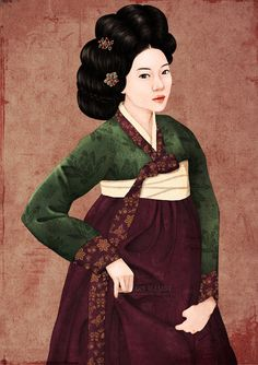 The picture is beautiful woman. Faces upstage the women     illustrator jisuyeon.