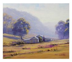 FARM Oil PAINTING Original AUSTRALIAN Landscape artwork on canvas by Graham Gercken