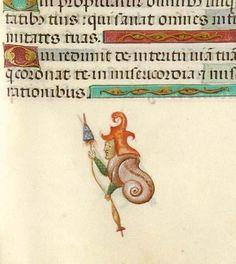 Snail man spins GKS 1605 4°: Psalterium kb.dk/permalink/2006… pic.twitter.com/Mq178TXbDf