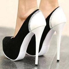 black n white stilletos