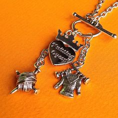 $17.00.  KNITTING QUEEN necklace.  Adorable.