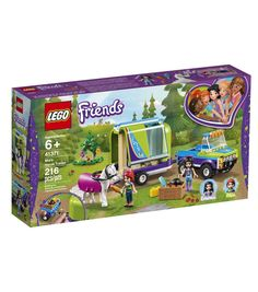 LEGO Friends - Mia's Horse Trailer and thousands more of the very best toys at Fat Brain Toys. Build a truck, a horse trailer, and a lovely forest scene! The back hatch of the trailer opens to become a ramp while the side opens. Horse Toys For Girls, Toys For Boys, Kids Toys, Lego For Girls, Horse Riding Gear, Lego Friends Sets, Friends Series, Shop Lego, Horses