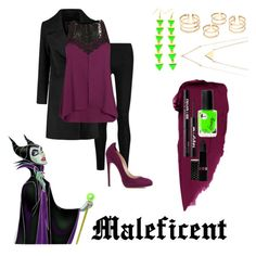 """Disney #9 - Maleficent"" by xfandomtrashx ❤ liked on Polyvore featuring Donna Karan, City Chic, Chloe Gosselin, Ardency Inn and Hard Candy"