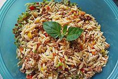 Kritharaki - Salat mit Hackfleisch, ein tolles Rezept aus der Kategorie Pasta & Nudel. Bewertungen: 327. Durchschnitt: Ø 4,5.