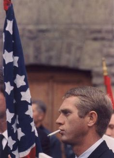 """Steve McQueen– ironically displaying his signature, perfect balance of allegiance and rebellion. * """"I live for myself and I answer to nobody."""" –Steve McQueen * Steve McQueen…"""