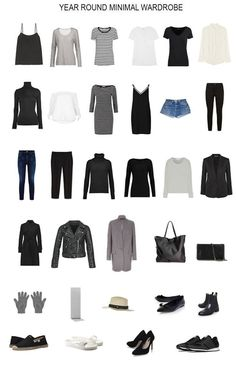 A minimalist capsule wardrobe for the entire year. How I built a minimal 32 piece wardrobe that serves me all year. I talk about my capsule wardrobe a lot. In this post I wanted to share the entire contents of my year round minimal wardrobe with you. Capsule Outfits, Fashion Capsule, Fashion Outfits, Womens Fashion, Fashion Trends, Fall Fashion, Work Outfits, Dress Fashion, Travel Outfits