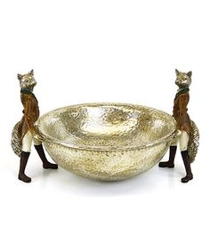 Another great find on #zulily! Hammered Double Fox Bowl #zulilyfinds