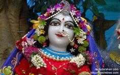 To view Radha Close Up Wallpaper of ISKCON Chowpatty in difference sizes visit - http://harekrishnawallpapers.com/srimati-radharani-close-up-wallpaper-017/