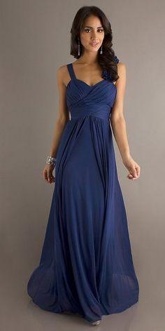 Floor Length Royal Blue Chiffon Flowy Semi Formal Dress Empire Waist $117.99 Choir Dresses | Big Fashion Show semi formal dresses