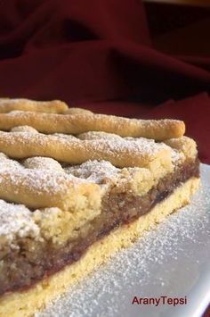 Meggylekváros-dióhabos rácsos Sweet Desserts, No Bake Desserts, Sweet Recipes, Dessert Recipes, Hungarian Desserts, Hungarian Recipes, Pastry Recipes, Cookie Recipes, Croatian Recipes