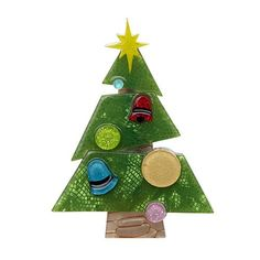 Erstwilder's Christmas collection would not be complete without a beautiful Christmas tree, adorned with glittery, colourful decorations.  Laser cut resin, hand assembled and hand painted, presented in a branded box as shown, with a cute teapot tag.