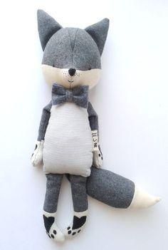 GUSTAV the fox. made-to-order. stuffed toy. eco toy. kids von LESNE
