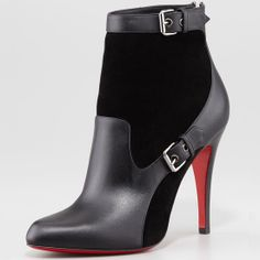 Christian Louboutin Canassone Buckled Suede-Leather Bootie  $1,195 out of my price range