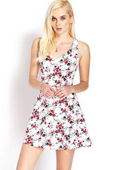 Garden Girl Fit  Flare Dress | FOREVER21 - 2000071812 #Fashion #Dress