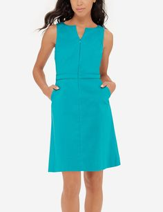Zip Front A-Line Dress | Women's Dresses & Skirts | THE LIMITED