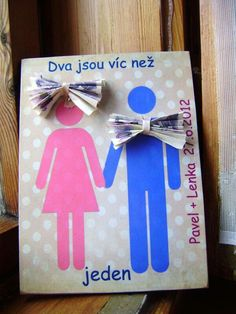 svatebni dar penize Cardmaking, Wedding Gifts, Origami, Diy And Crafts, The Creator, Scrapbook, Frame, Blog, Cards